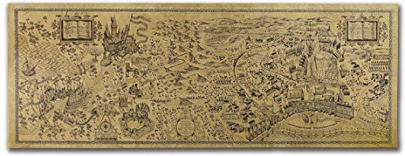 picture relating to Printable Marauders Map called Harry Potter Marauders Map Within just Kraft Paper ~ Weighty ~ 72 cm x
