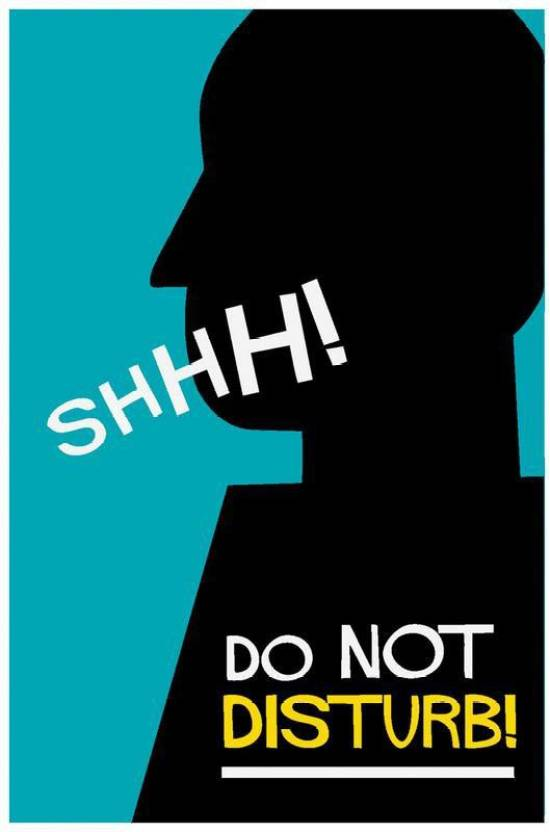 Do Not Disturb Poster Art Funny Posters For Room Paper Print