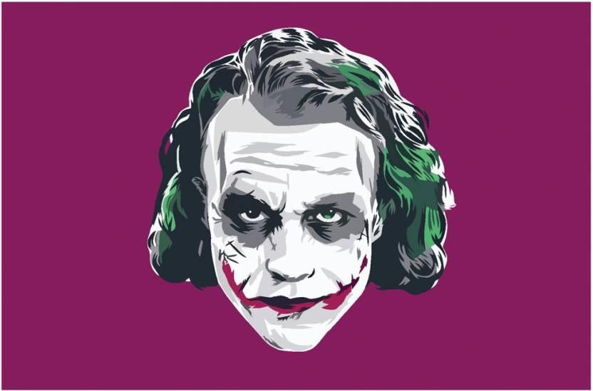 ec40e8b9 The Dark Knight Joker Heath Ledger Art Poster | Movie Poster Paper Print  (12 inch X 18 inch, Rolled)