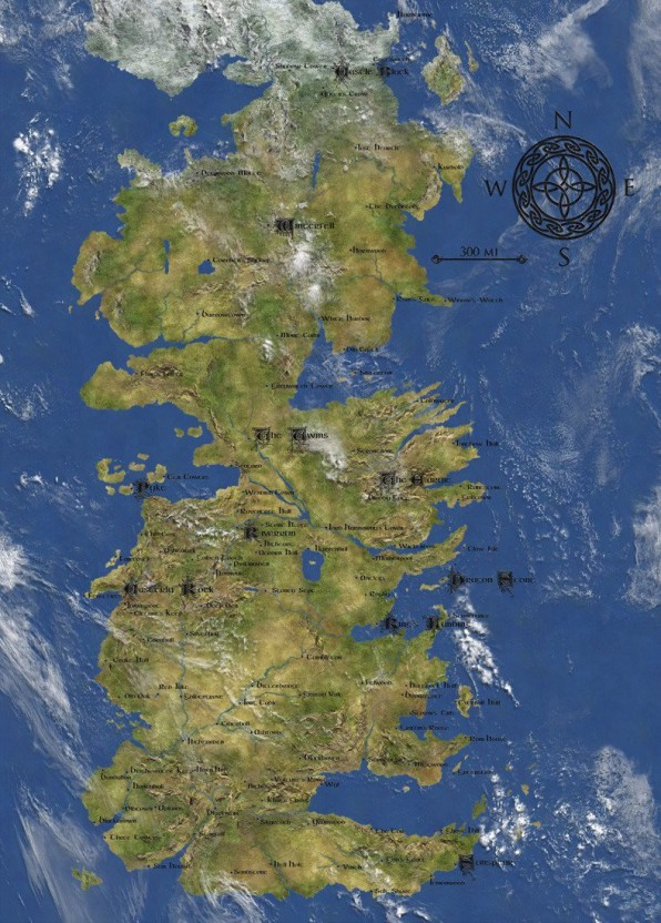 graphic regarding Printable Map of Westeros known as Recreation Of Thrones Assortment - 7 Kingdoms Of Westeros Map