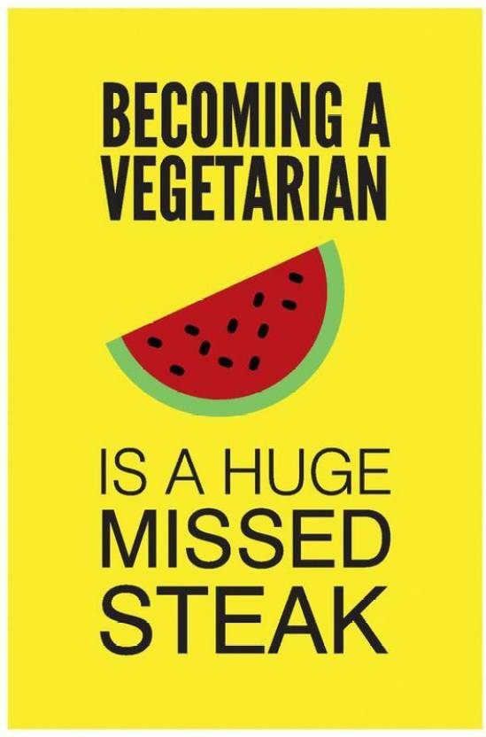 Vegetarian Funny Poster Art Funny Posters For Room Paper
