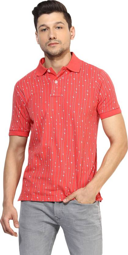 149ca28db15 Red Tape Printed Men s Polo Neck Pink T-Shirt - Buy CORAL Red Tape Printed  Men s Polo Neck Pink T-Shirt Online at Best Prices in India