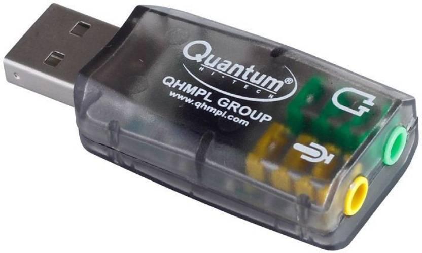 Quantum QHM 623 USB 3D Sound 5 1 Virtual Sound Card