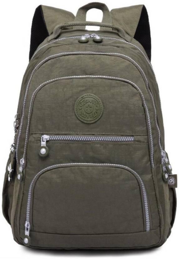3037b78219 Aeoss school backpack for girls women Nylon Waterproof Laptop Bag Casual  Backpacks Green 30 L Backpack (Green)
