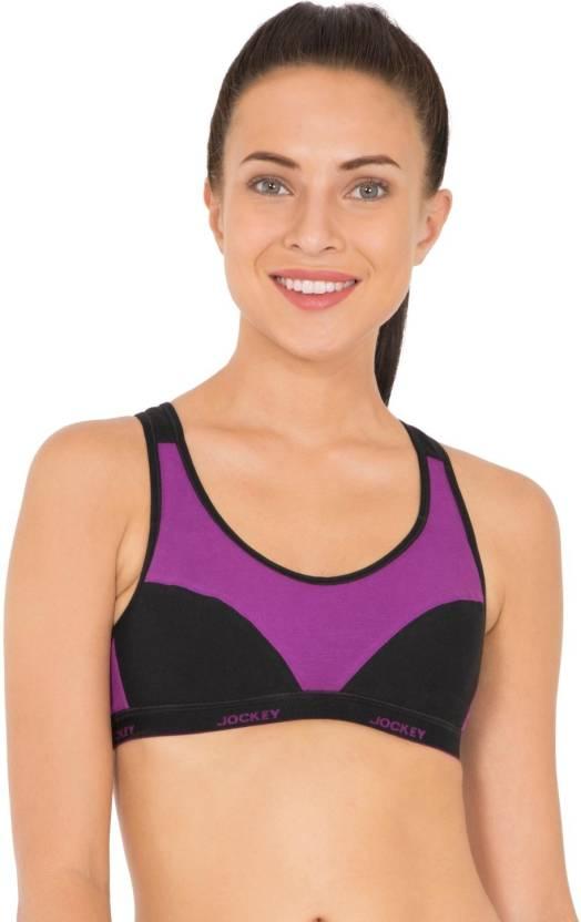 b0635b63b7ec0 Jockey Women s Sports Non Padded Bra - Buy Purple Glory   Black ...