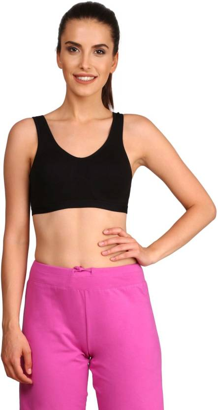 e39bf9dd1c2b5 Jockey Women s Sports Non Padded Bra - Buy Black Jockey Women s ...