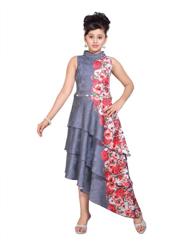 c7a07da0f0a1 Hunny Bunny Girls Maxi/Full Length Casual Dress Price in India - Buy ...