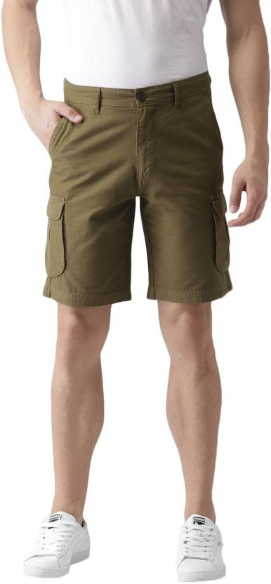 b6ae652220 Mast & Harbour Solid Men Green Cargo Shorts - Buy Mast & Harbour Solid Men  Green Cargo Shorts Online at Best Prices in India | Flipkart.com