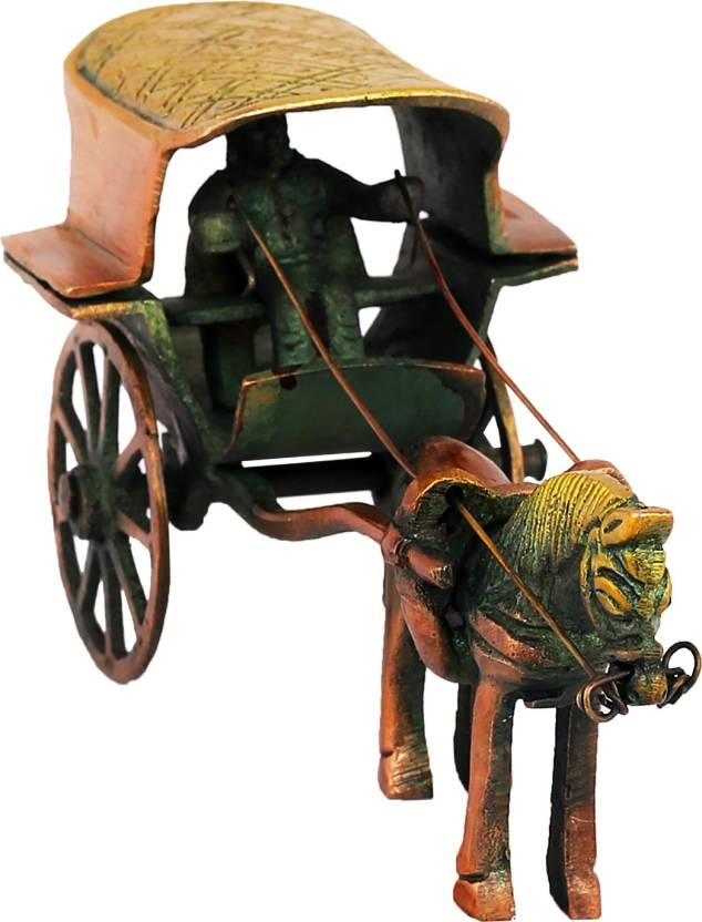 Art For Gifting Horse Cart Statue| show pieces for home decor | home decor for living room | decorative items for table | gifts for house warming ceremony ...