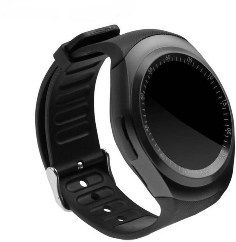 M-STARK Bluetooth Y1 Black Smartwatch for google Phones|TF