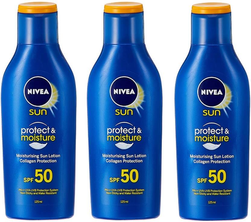 Nivea Sun Protect & Moisture - SPF 50 PA+ (375 ml)