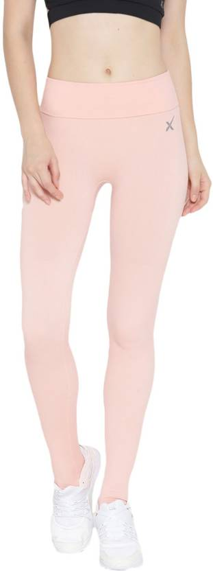 04d5fda6c0155 HRX by Hrithik Roshan Solid Women Orange Tights - Buy HRX by Hrithik ...