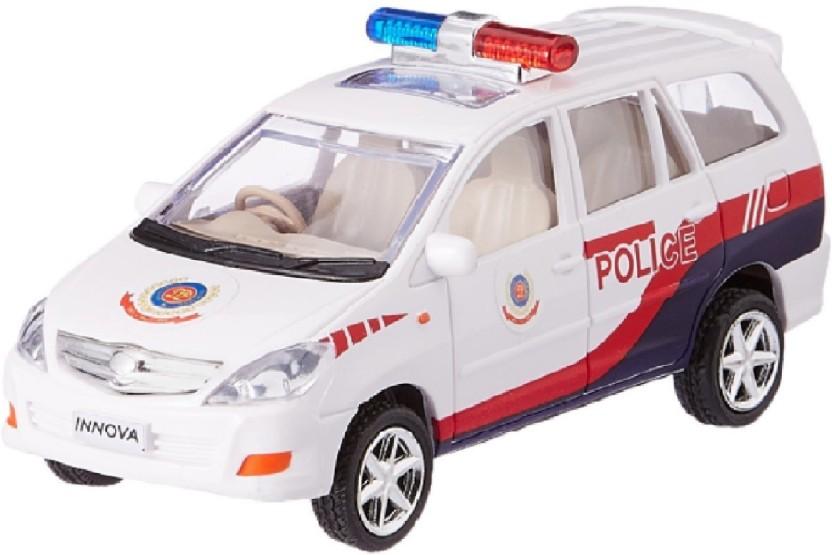 High Quality White Remote Control Police Van Kids//Child Toy 3D Lights /& Sound UK
