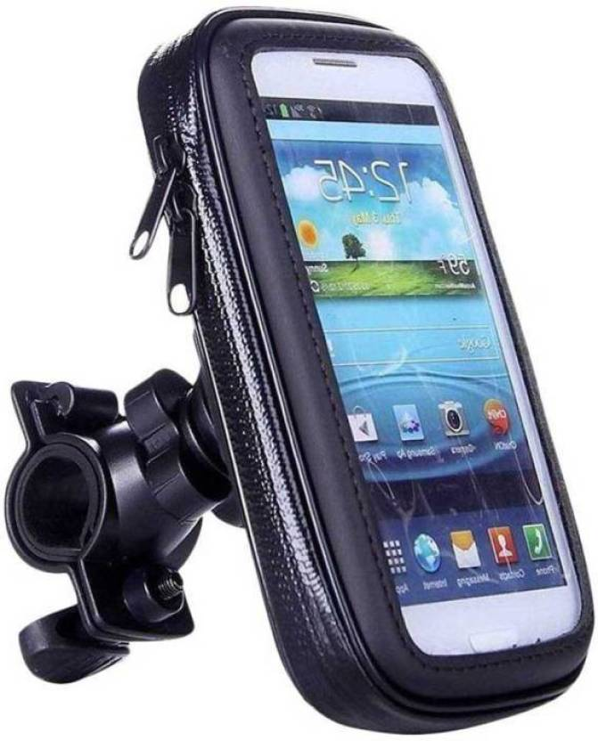 promo code eedc2 dfd88 Dirar Universal Weather Resistant Bike Mount Waterproof Case  Cover,Motocycle Frame Handlebar Bracket Bag Base Bike Mobile Holder (Black)  Bike Mobile ...