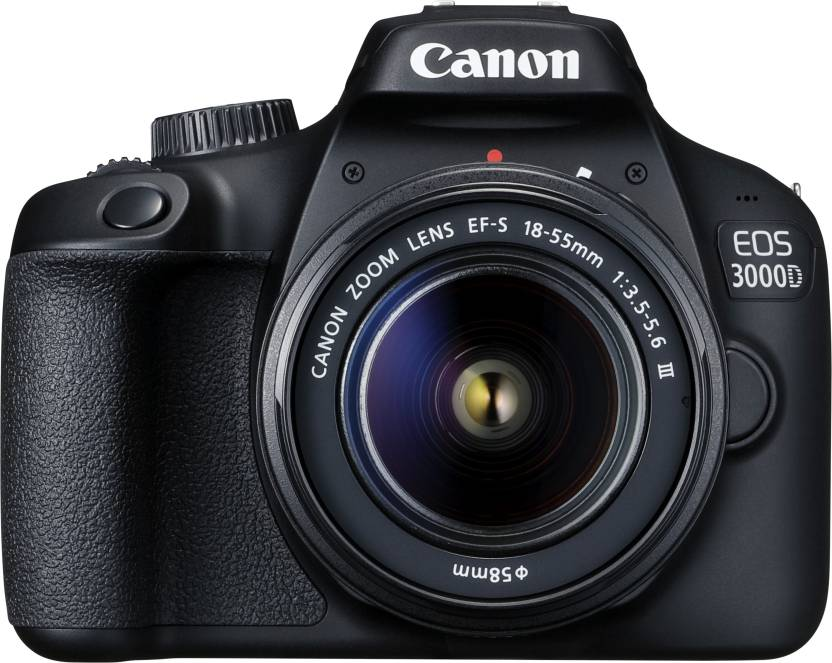 Canon EOS 3000D DSLR Camera Single Kit with 18-55 lens (16 GB Memory Card & Carry Case)