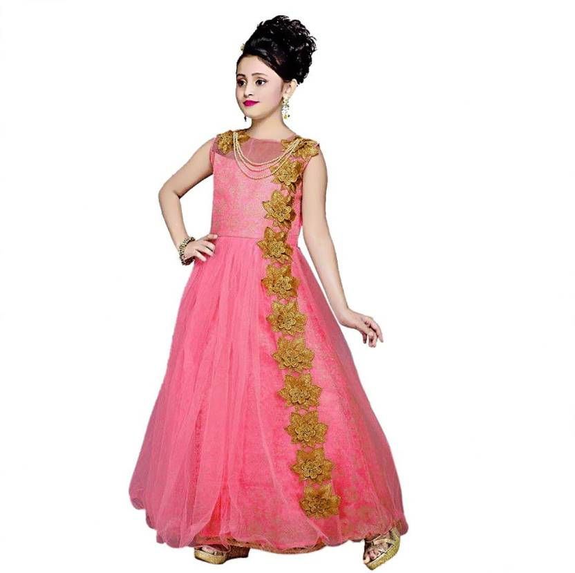 satyamfab Girls Maxi/Full Length Party Dress Price in India - Buy ...