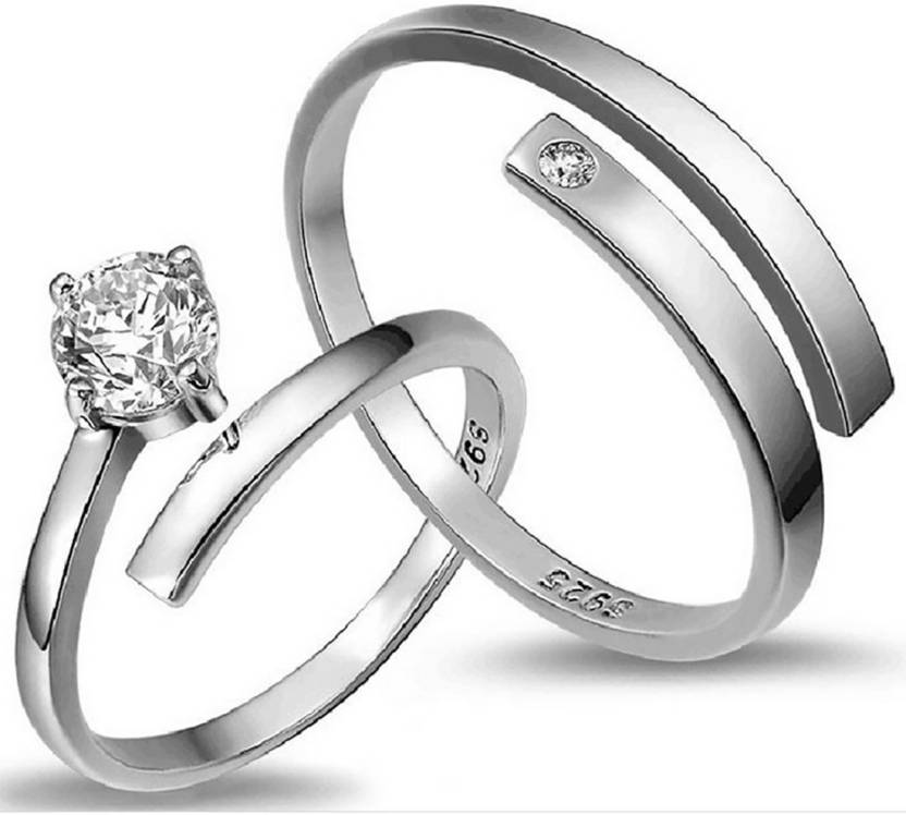 ef9a2985d5ceb osw jewel sterling silver ring couple Platinum Platinum Korean jewelry  silver jewelery Alloy Ring