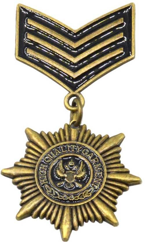 Men Style Eagle Medal Ribbon Military Medal Badge Brooch