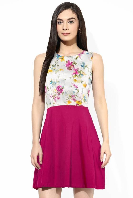 73db967e6b Navya Women s Skater Pink Dress - Buy Navya Women s Skater Pink ...