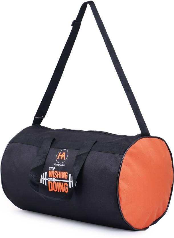 Hyper Adam Polyester Long Lasting material Gym Bag 17 inch  43 cm Travel  Duffel Bag (Black) 2d5ff9496a