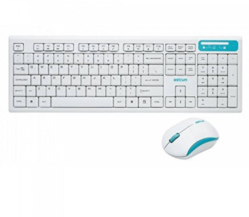Astrum Kw250 Smart 2 4ghz Wireless Keyboard And Mouse Combo White