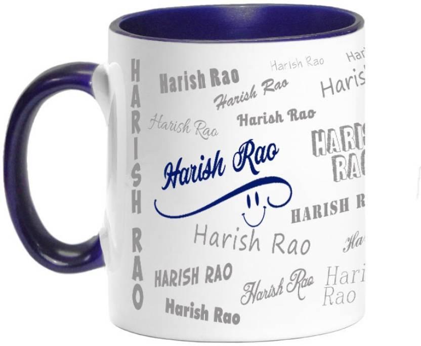 PrintAttic Me, Myself & I - Harish Rao Ceramic Mug Price in India