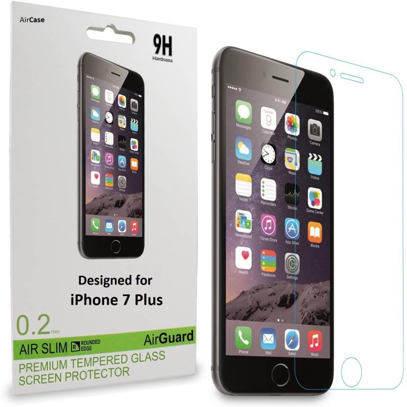 Air Case Tempered Glass Guard For Apple IPhone 7 Plus Set Of 2