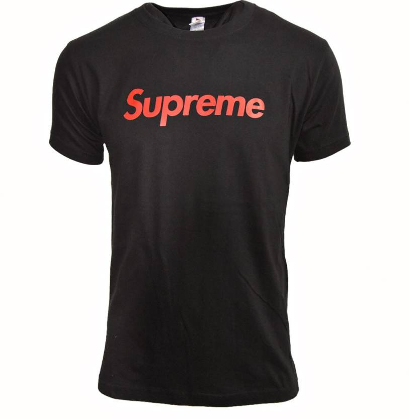 a6c1b41a95d7 SUPREME TSHIRT Printed Men's & Women's Round Neck Black T-Shirt - Buy SUPREME  TSHIRT Printed Men's & Women's Round Neck Black T-Shirt Online at Best  Prices ...