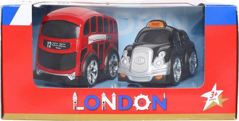 Hamleys London Bus And Taxi Playset - London Bus And Taxi