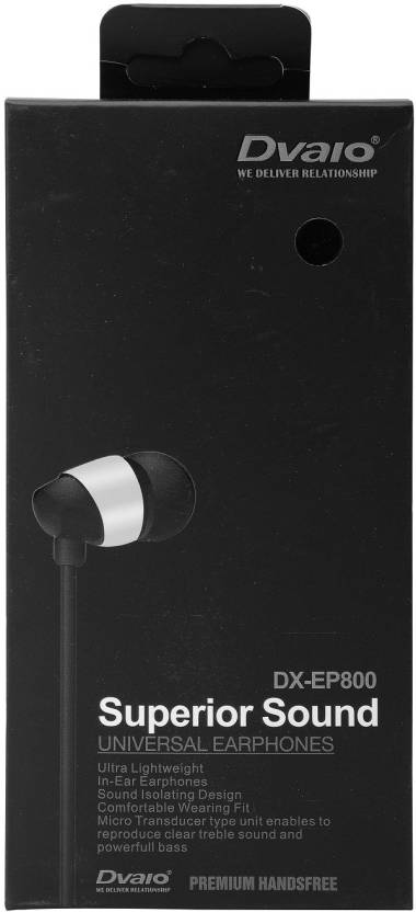7b36ddb95e3 Dvaio DX-EP800 stereo earphone with high treble and high performance  (Universal) Wired