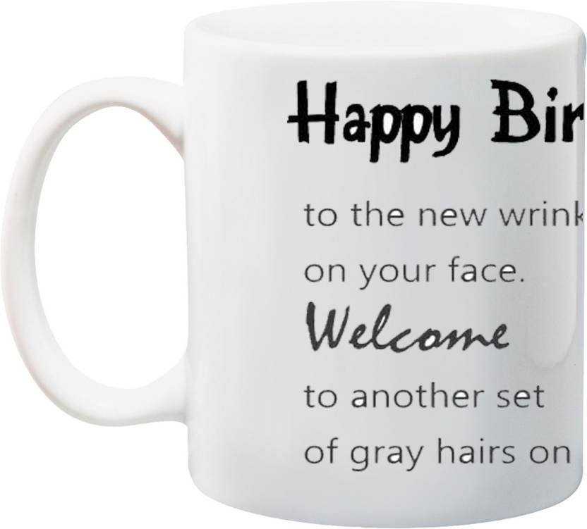 MEYOU Gifts On Happy Birthday For Grand Father Grandpa IZ17 VK MU 01258 The New Wrinkle Your Face Printed Ceramic Mug 325 Ml