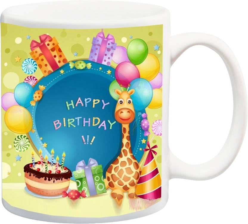 MEYOU Gifts On Birthday For Kids Children Boys Girls Younger Brother Sister IZ17 VK MU 0570 Printed Ceramic Mug 325 Ml