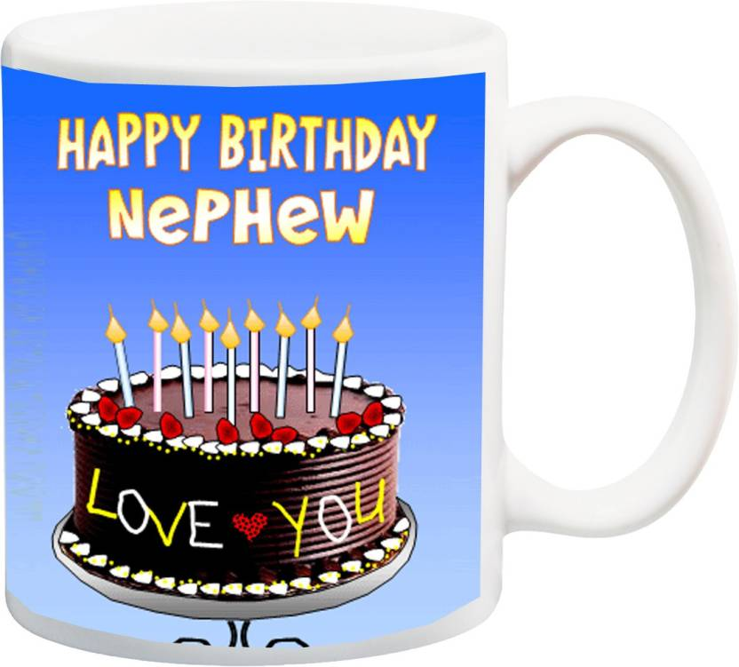 MEYOU Gift For Nephew On Birthday IZ17 CK MU 624 Printed Ceramic Mug 325 Ml