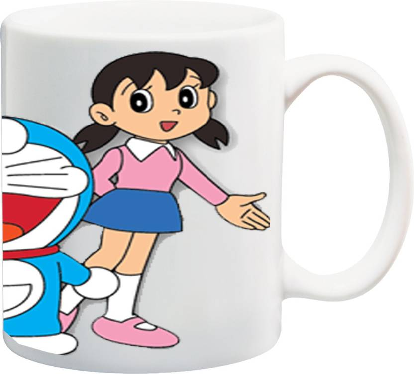 MEYOU Gifts For Cousin Niece Children Kids Boy Girl Sister Brother Nephew On Happy Birthday IZ17 VK MU 01284 Doraemon Printed Ceramic Mug 325 Ml