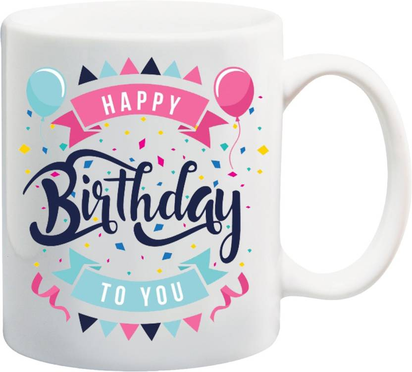 MEYOU Gifts On Happy Birthday For Brother Sister Nephew Husband Wife Friends IZ17 VK MU 01578 Printed Ceramic Mug 325 Ml