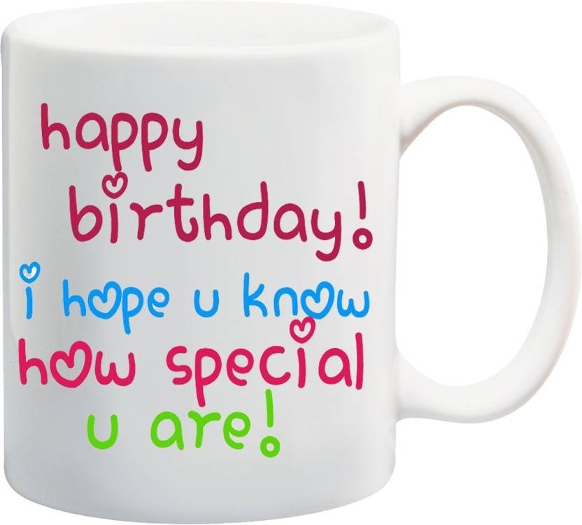 MEYOU Gifts On Happy Birthday For Brother Sister Nephew Husband Wife Friends IZ17 VK MU 01438 How Special You Are Printed Ceramic Mug 325 Ml