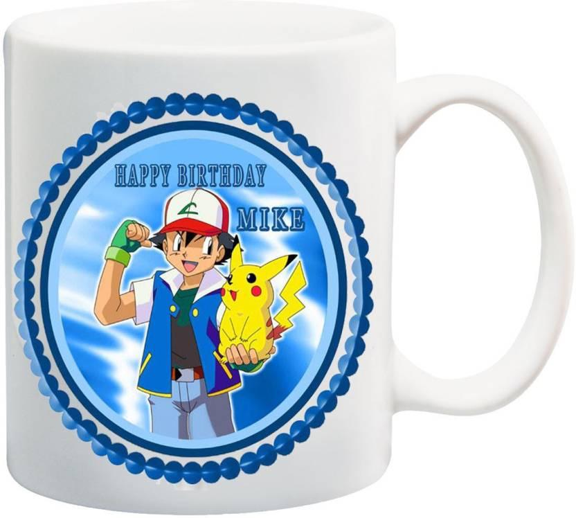 MEYOU Gifts For Cousin Children Kids Boy Brother Nephew On Happy Birthday IZ17 VK MU 01583 Pokemon Printed Ceramic Mug 325 Ml