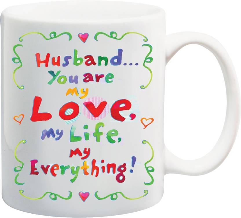 MEYOU Gifts For Husband Hubby On Birthday Valentines Day Anniversary IZ17 VK MU 01411 You Are My Love Printed Ceramic Mug