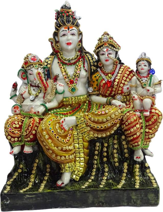 Boon BOON Shiv Family Idol Decorative Showpiece - 34 cm Price in ...