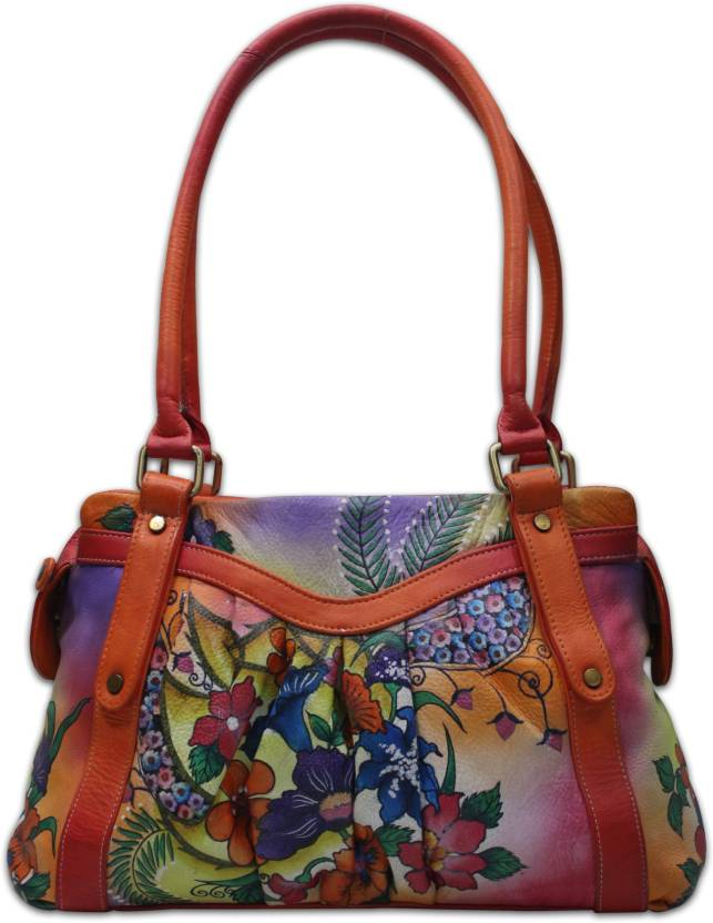 13ba64b72c Shankar Produce Women Casual Multicolor Genuine Leather Hand-held Bag Multi  color - Price in India