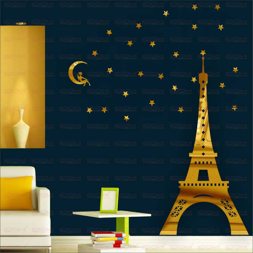 Look Decor Extra Large Eiffel Tower Paris Golden Pack Of 32