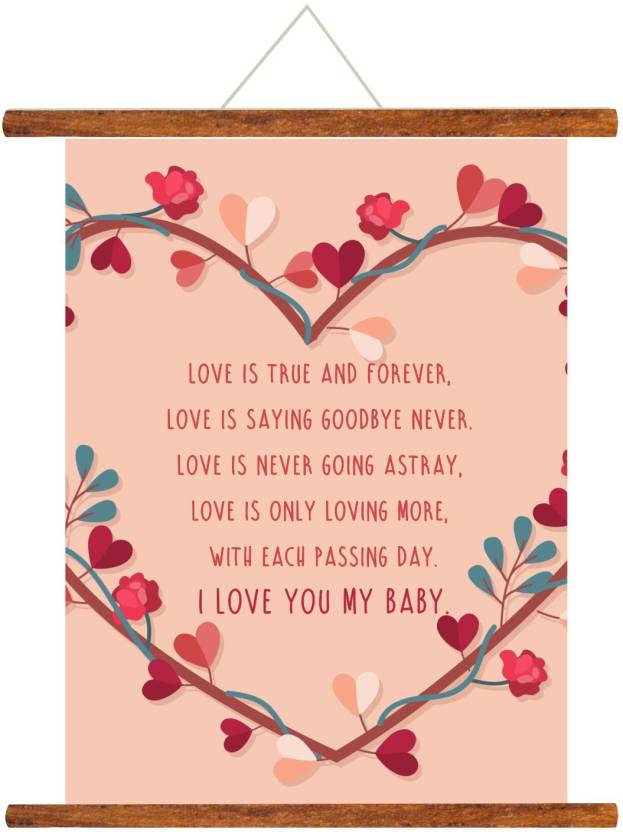 Giftsmate Birthday Anniversary Gift For Girlfriend I Love You Baby Scroll Greeting Card