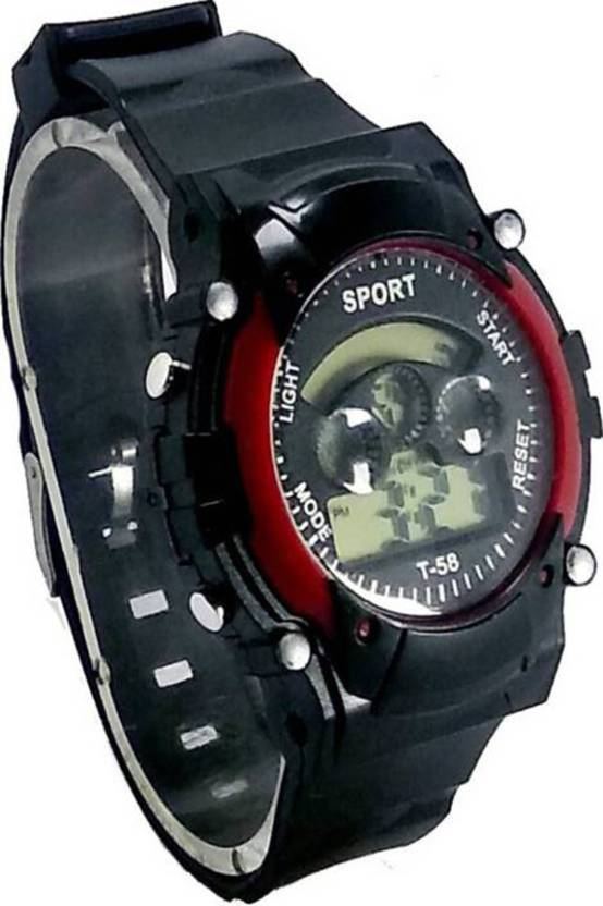 Happy Deals Maroon 7 Color Light Birthday Gift Watch For Boys