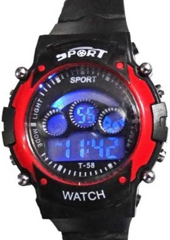 Happy Deals Red 7 Color Light Birthday Gift Watch For Boys Buy