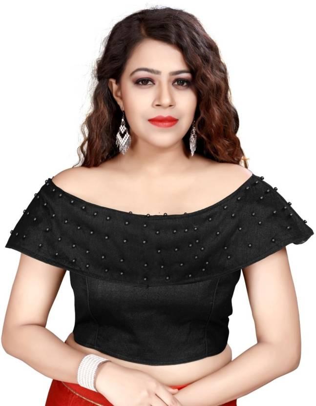 e497b1a61f8 NANCY DESIGNER Round Neck Women s Stitched Blouse - Buy Black NANCY  DESIGNER Round Neck Women s Stitched Blouse Online at Best Prices in India