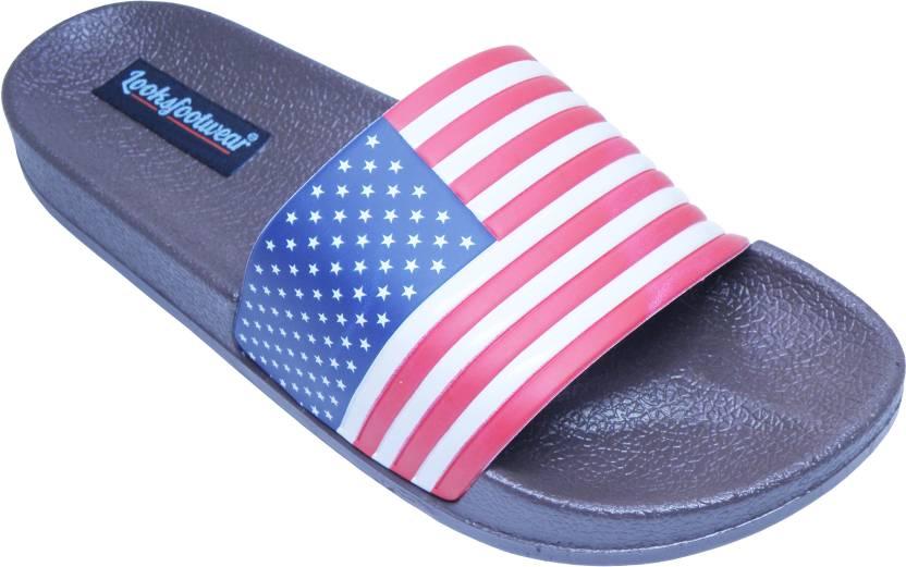 3bf475819766 LooksFootwear Casual Slides Slides - Buy Brown Color LooksFootwear Casual Slides  Slides Online at Best Price - Shop Online for Footwears in India ...