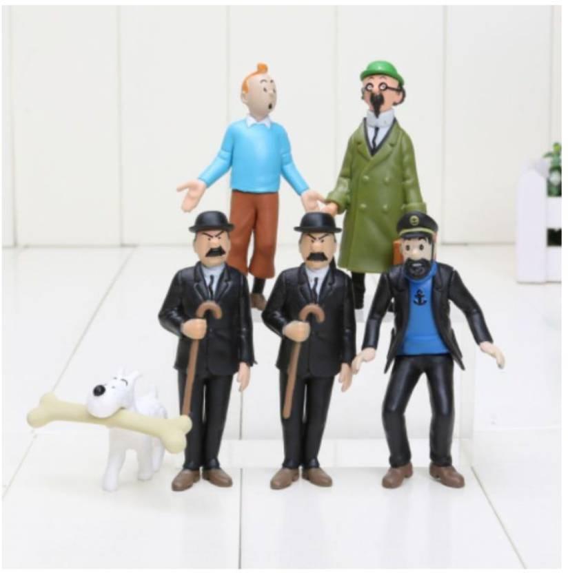 ZenShanti Tintin Action Figure & Snowy, Captain Haddock