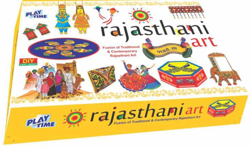 Playtime rajasthani art game for kids craft kits do it yourself playtime rajasthani art game for kids craft kits do it yourself drawing painting solutioingenieria Gallery