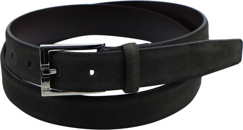 0ad88be5 Ermenegildo Zegna Men Black Genuine Leather Belt Black ...