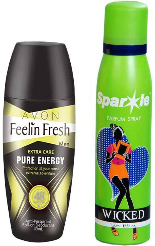 Avon Anew Feelin Fresh Pure Energy Roll On Deodorant For Him 40 G